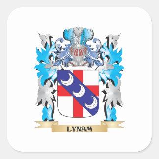 Escudo de armas de Lynam - escudo de la familia Pegatina Cuadrada