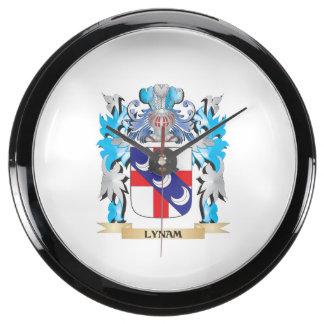 Escudo de armas de Lynam - escudo de la familia Relojes Acuario