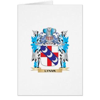 Escudo de armas de Lynam - escudo de la familia Tarjeta De Felicitación