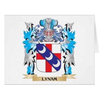 Escudo de armas de Lynam - escudo de la familia Tarjeta De Felicitación Grande