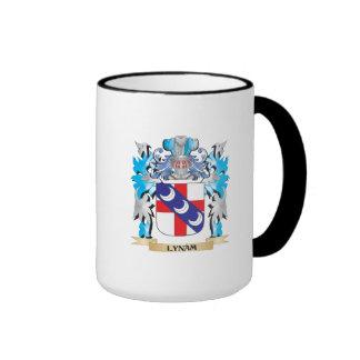 Escudo de armas de Lynam - escudo de la familia Taza A Dos Colores