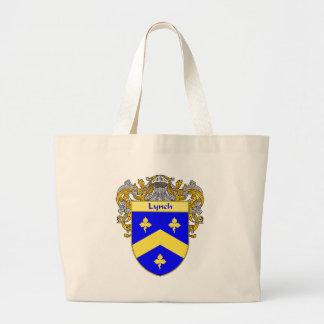 Escudo de armas de Lynch (cubierto) Bolsa Tela Grande