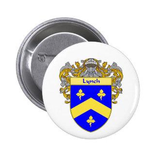 Escudo de armas de Lynch (cubierto) Pin Redondo De 2 Pulgadas