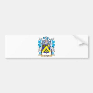 Escudo de armas de Lynch - escudo de la familia Pegatina De Parachoque