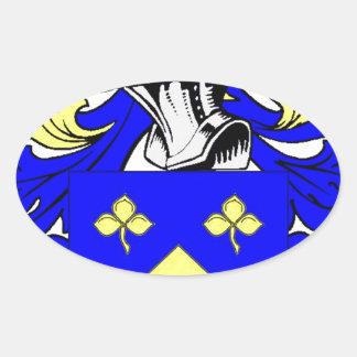 Escudo de armas de Lynch Pegatina Ovalada