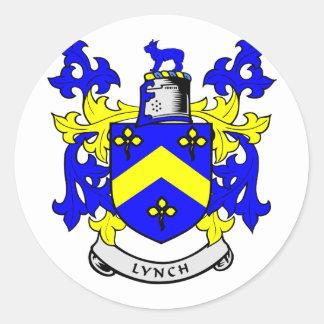 Escudo de armas de LYNCH Pegatina Redonda