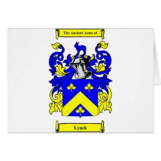 Escudo de armas de Lynch Tarjeta De Felicitación