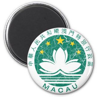 Escudo de armas de Macao Imán Redondo 5 Cm