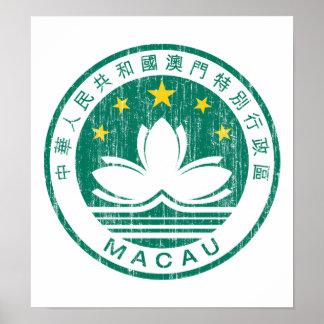 Escudo de armas de Macao Posters