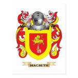 Escudo de armas de Macbeth (escudo de la familia) Tarjeta Postal