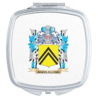 Escudo de armas de Macclelland - escudo de la Espejo Para El Bolso