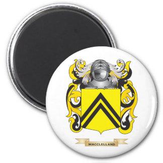 Escudo de armas de MacClelland (escudo de la famil Imán Redondo 5 Cm