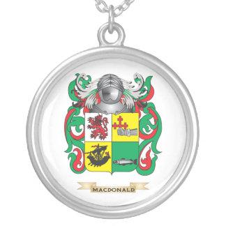 Escudo de armas de MacDonald- (pizarra) (escudo de Colgante Redondo
