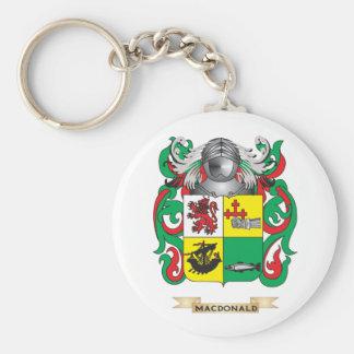 Escudo de armas de MacDonald- (pizarra) (escudo de Llavero Redondo Tipo Pin