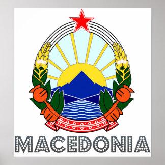 Escudo de armas de Macedonia Impresiones