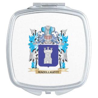 Escudo de armas de Macelligott - escudo de la Espejos Compactos
