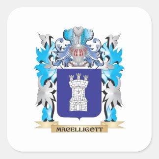 Escudo de armas de Macelligott - escudo de la Pegatina Cuadrada