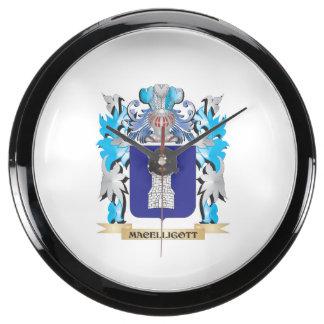Escudo de armas de Macelligott - escudo de la Relojes Pecera