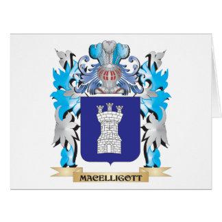 Escudo de armas de Macelligott - escudo de la Tarjeta De Felicitación Grande