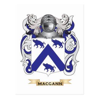 Escudo de armas de MacGann (escudo de la familia) Postal