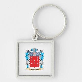 Escudo de armas de Machado - escudo de la familia Llavero Cuadrado Plateado