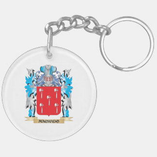 Escudo de armas de Machado - escudo de la familia Llavero Redondo Acrílico A Doble Cara