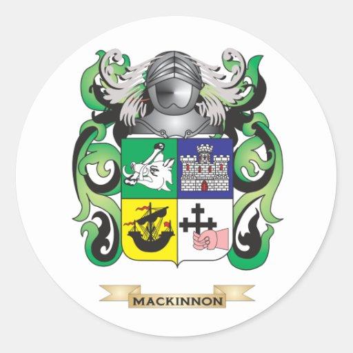 Escudo de armas de MacKinnon (escudo de la Etiquetas Redondas