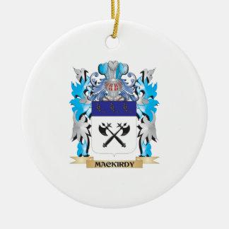 Escudo de armas de Mackirdy - escudo de la familia Adorno Navideño Redondo De Cerámica