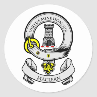 Escudo de armas de MACLEAN Pegatina Redonda