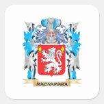 Escudo de armas de Macnamara - escudo de la Pegatinas Cuadradases Personalizadas