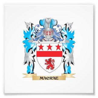 Escudo de armas de Macrae - escudo de la familia Fotografias