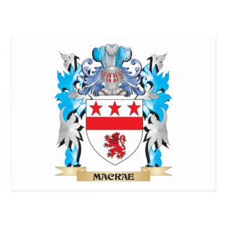 Escudo de armas de Macrae - escudo de la familia Tarjeta Postal