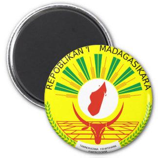 Escudo de armas de Madagascar Imán Redondo 5 Cm