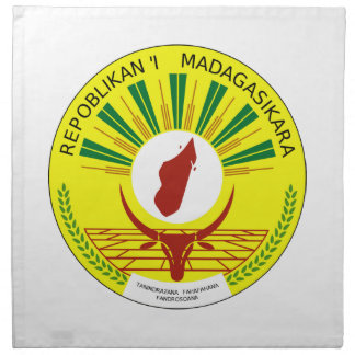 Escudo de armas de Madagascar Servilletas De Papel