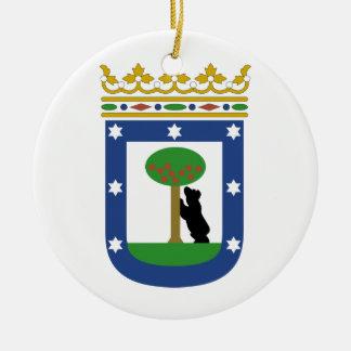 Escudo de armas de Madrid España Adornos De Navidad
