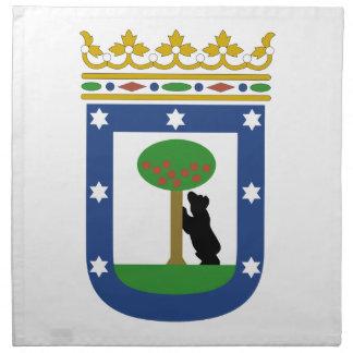 Escudo de armas de Madrid España Servilleta Imprimida