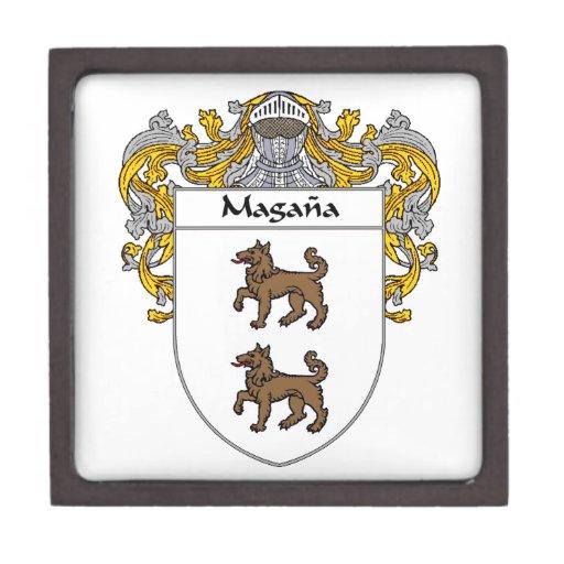 Escudo de armas de Magana/escudo de la familia Cajas De Regalo De Calidad