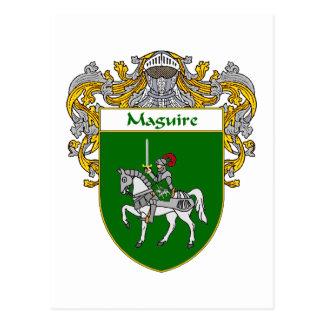 Escudo de armas de Maguire (cubierto) Postal