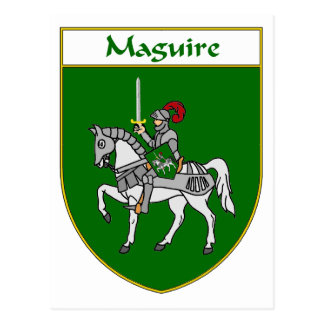 Escudo de armas de Maguire/escudo de la familia Tarjeta Postal