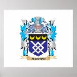 Escudo de armas de Mahood - escudo de la familia Poster