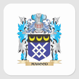 Escudo de armas de Mahood - escudo de la familia Pegatina Cuadrada