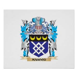 Escudo de armas de Mahood - escudo de la familia Póster