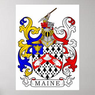 Escudo de armas de Maine Póster