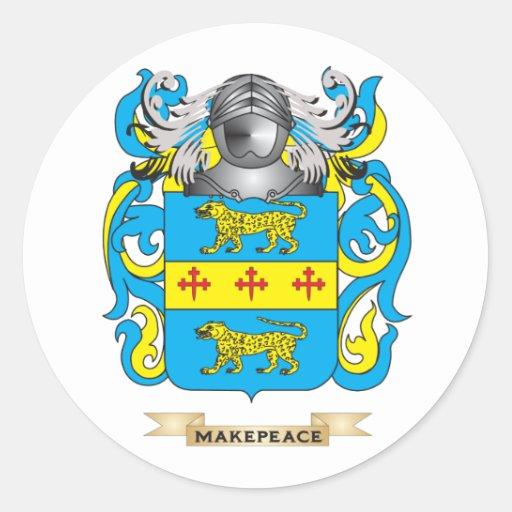 Escudo de armas de Makepeace (escudo de la Etiqueta Redonda