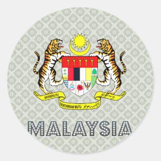 Escudo de armas de Malasia Etiquetas Redondas
