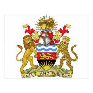 Escudo de armas de Malawi Tarjeta Postal