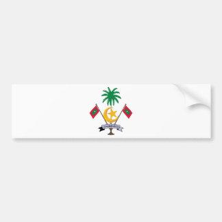 Escudo de armas de Maldivas Pegatina De Parachoque
