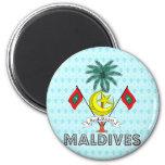 Escudo de armas de Maldivas Imán Redondo 5 Cm