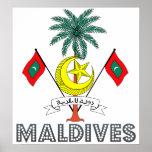 Escudo de armas de Maldivas Póster