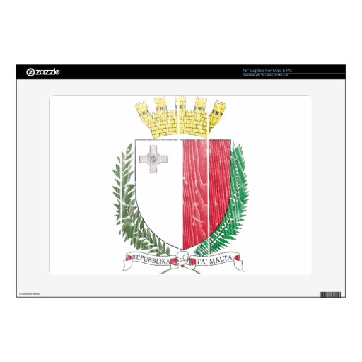 Escudo de armas de Malta Calcomanía Para 38,1cm Portátil